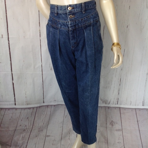 fa1524942ac6e Lee Denim - Vintage 80 s High Waist Jeans Pleated Tapered